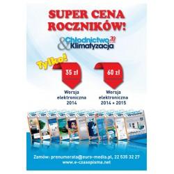 Rocznik 2014 + 2015 - Chłodnictwo & Klimatyzacja - wersja elektroniczna