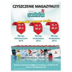 Rocznik 2015 - Świat Szkła - wersja drukowana
