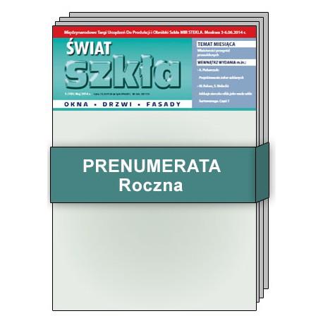 Prenumerata Roczna - Świat Szkła
