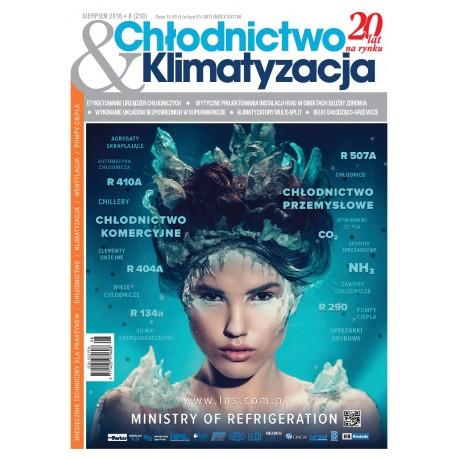 Numer 8/2016 - Chłodnictwo & Klimatyzacja