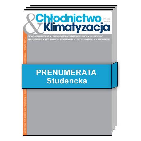Prenumerata Studencka - Chłodnictwo & Klimatyzacja