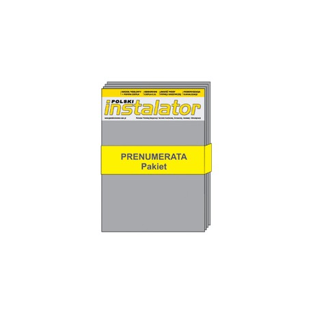 Pakiet Polski Instalator 2018 - Prenumerata papierowa + elektroniczna