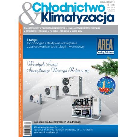 Numer 12/2014 - Chłodnictwo & Klimatyzacja